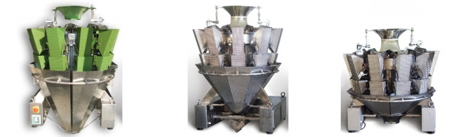 Multi-Head Weigher with 10 steady weighing hoppers