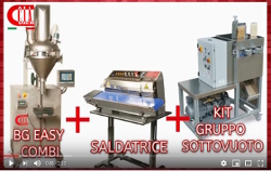 3 SYSTEMS: from the dosing, weighing and sealing of the bag, also vacuum