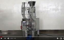 Automatic packing machine single dose mod. VM with volumetric cup doser (straight cut bag)